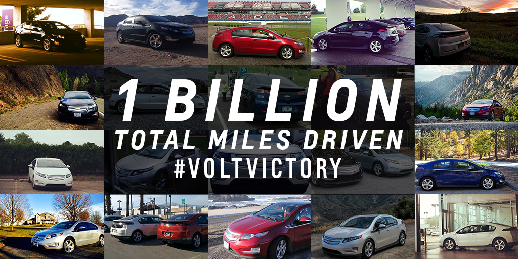 The Chevy Volt is 1 Billion Miles Strong