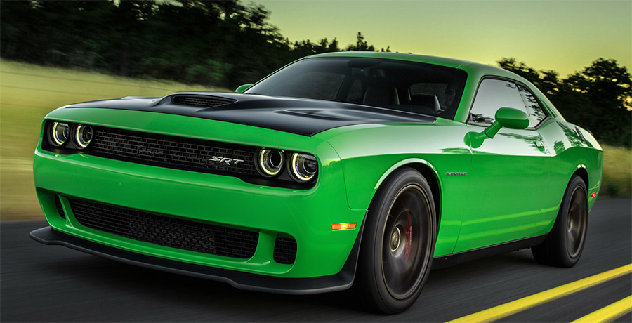 Dodge Challenger SRT Hellcat with Satin Hood