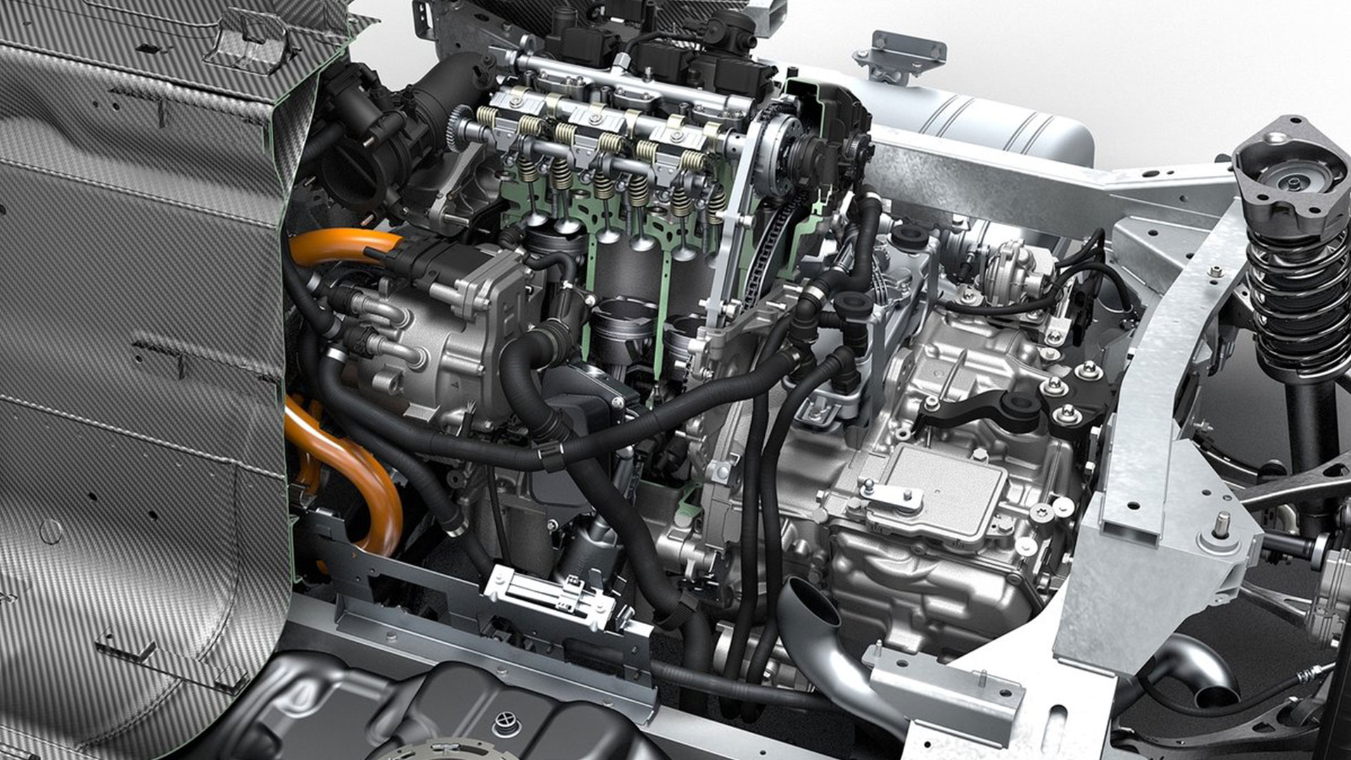 2015 BMW i8 engine