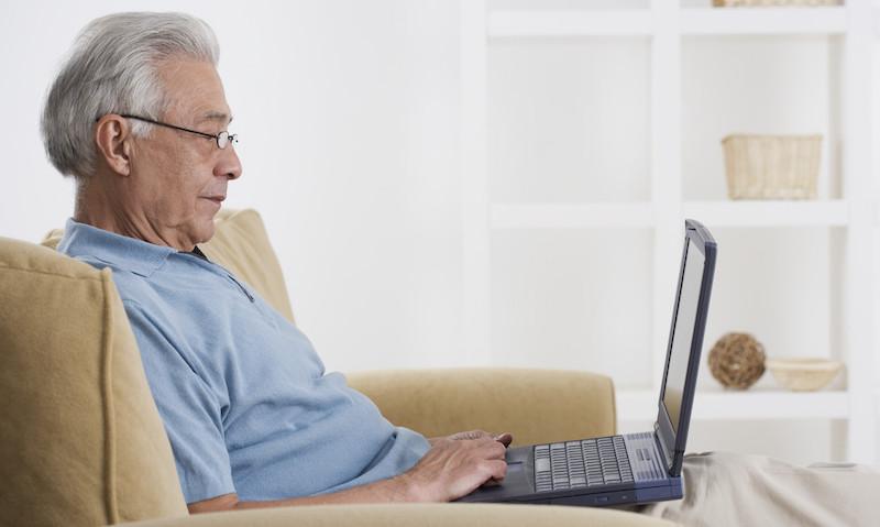 Senior with Laptop