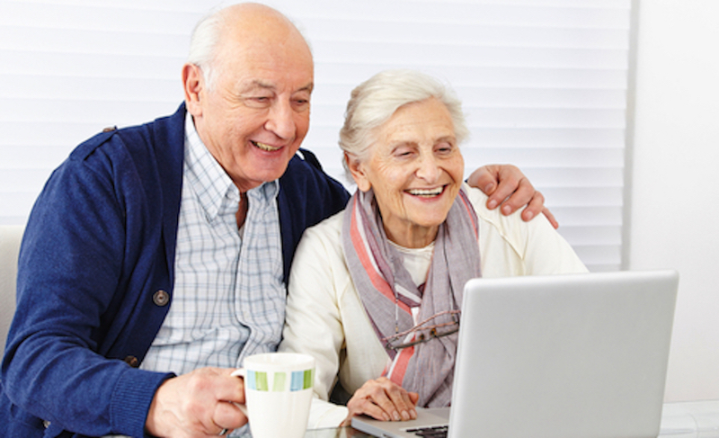 Senior Couple Buying Cars Online