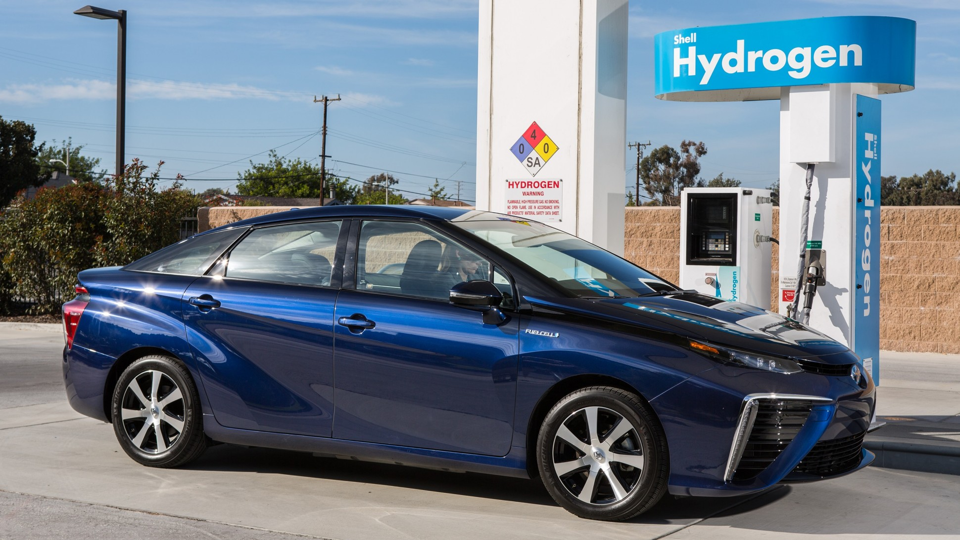 A Toyota Mirai Hydrogen Station