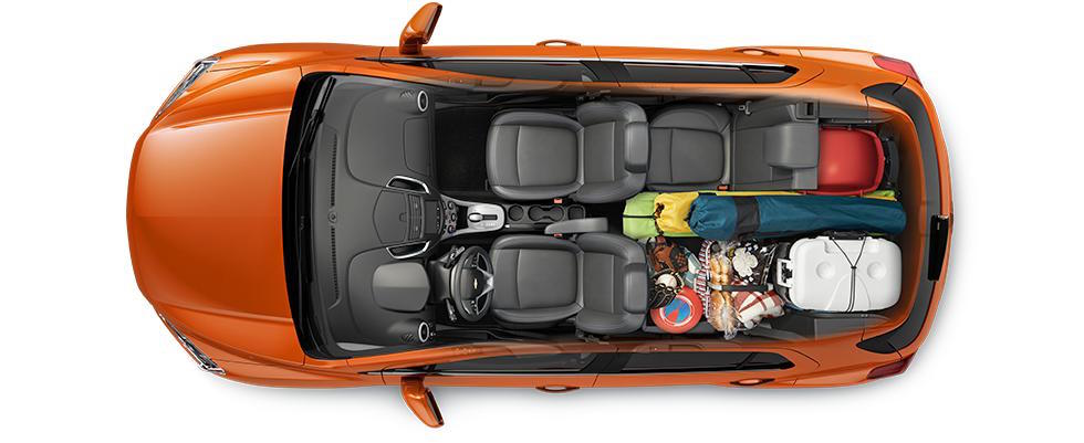 2016 Chevy Trax cargo space