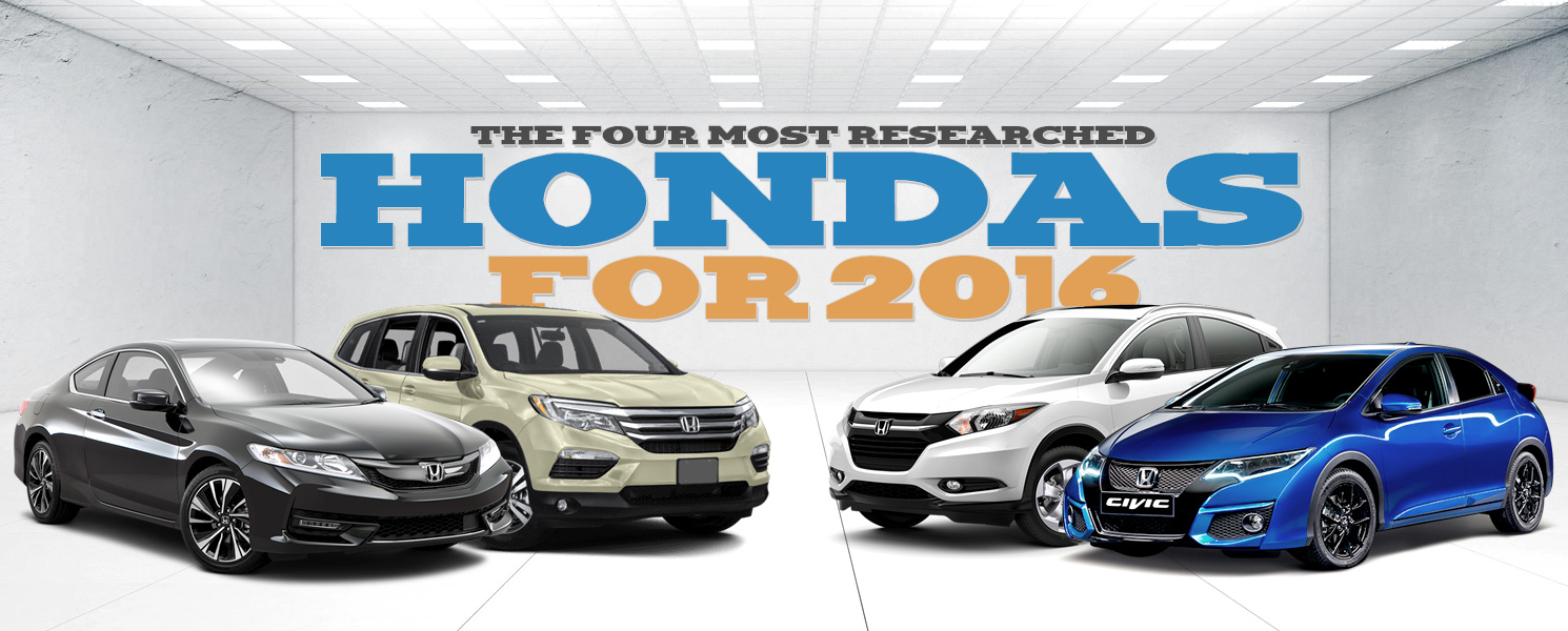 Most Researched Hondas of 2016