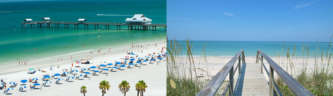 Clearwater Beach and Siesta Key