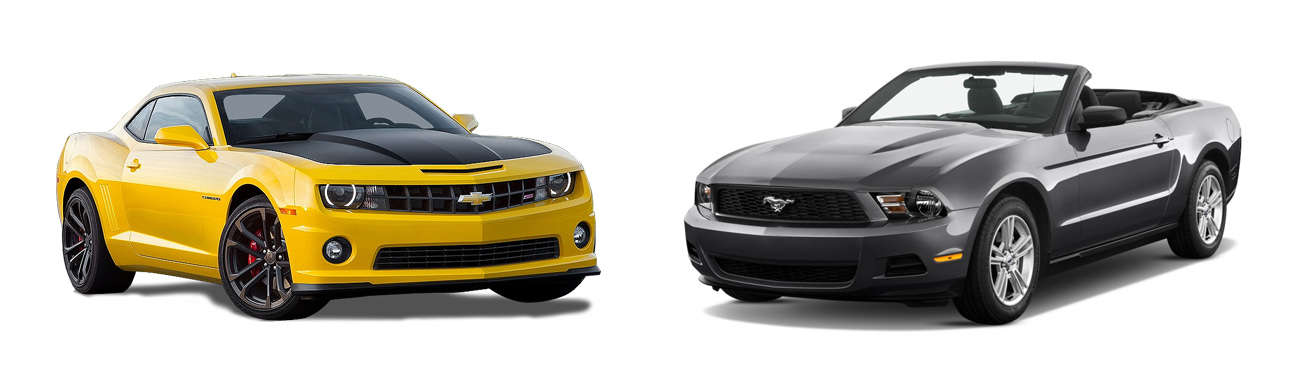 Chevy Camaro and Ford Mustang