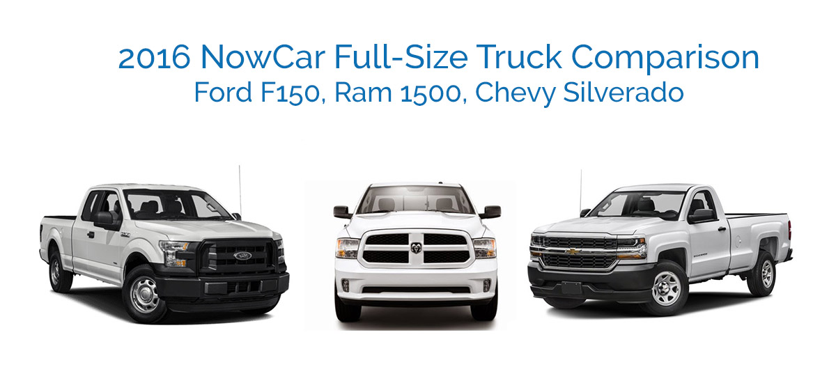 Truck Comparison Chevy Ram Ford