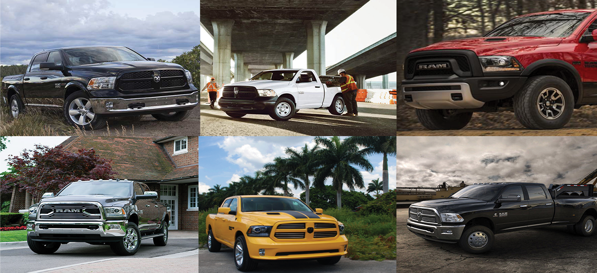 Ram truck models available at NowCar