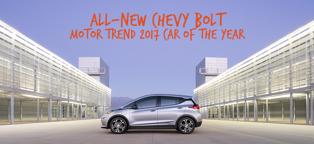 Chevy Bolt is the Motor Trend Car of the Year