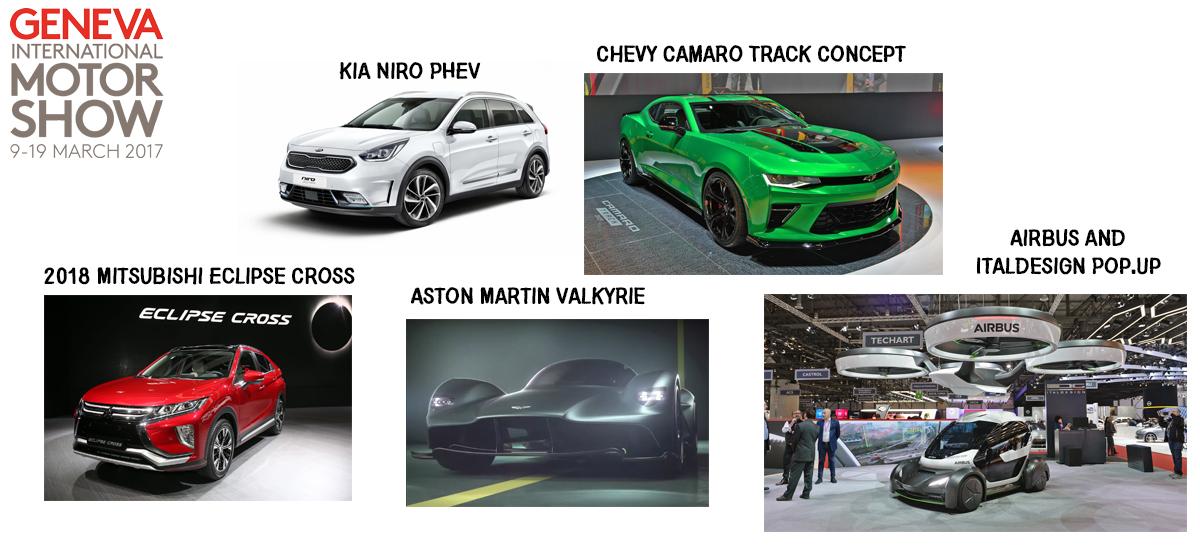 NowCar 2017 Geneva International Motor Show Kia Chevy Mitsubishi Airbus Aston Martin