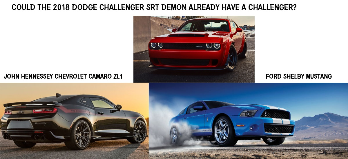 NowCar Ford And Chevy Are Chasing The Dodge Challenger SRT Demon - Chevrolet ford