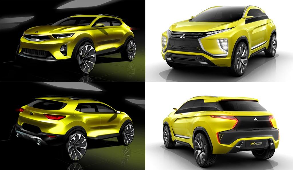 2018 Kia Stonic and Mitsubishi eX Concept