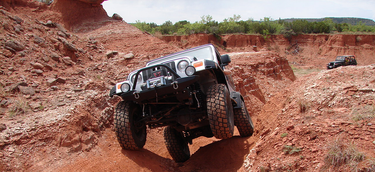 Jeep rock crawling in florida