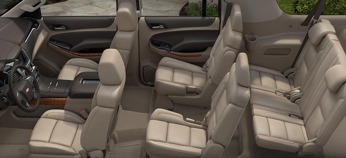 Chevy Suburban has a lot of space for cargo and passengers