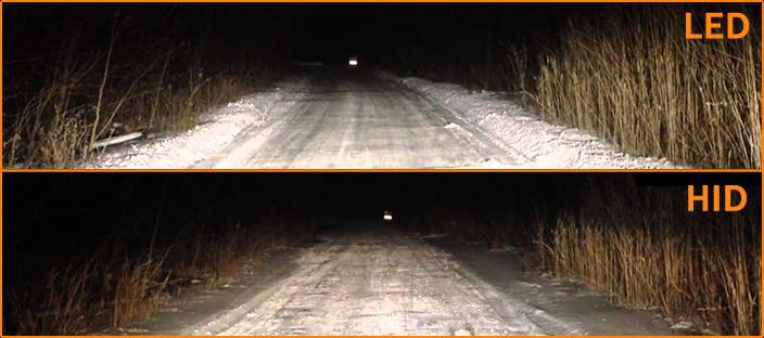 LED vs HID headlights now car