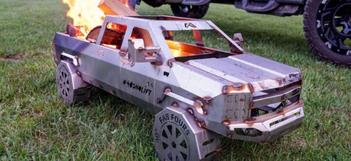 NowCar Chevrolet Silverado HD FabFour Fire-Pit
