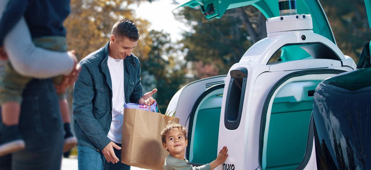 NowCar Dominos Delivery Nuro R2 Open